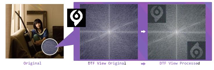 DTF 频域写入水印图片