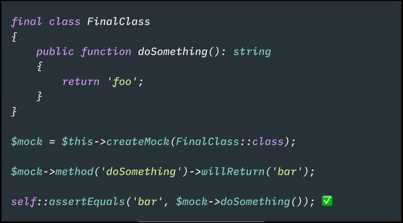 Mock final classes example