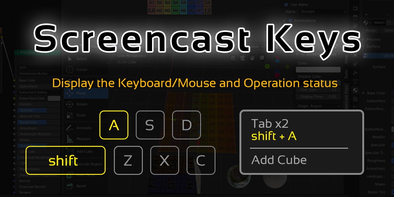 Screencast Keys