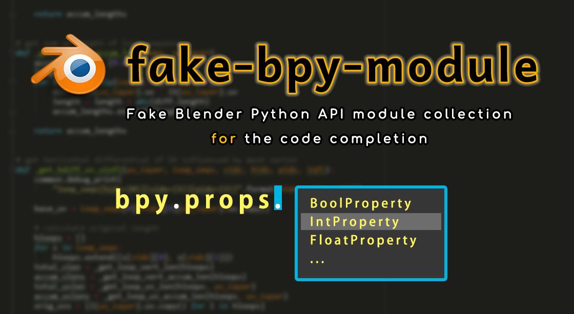 Fake bpy Module