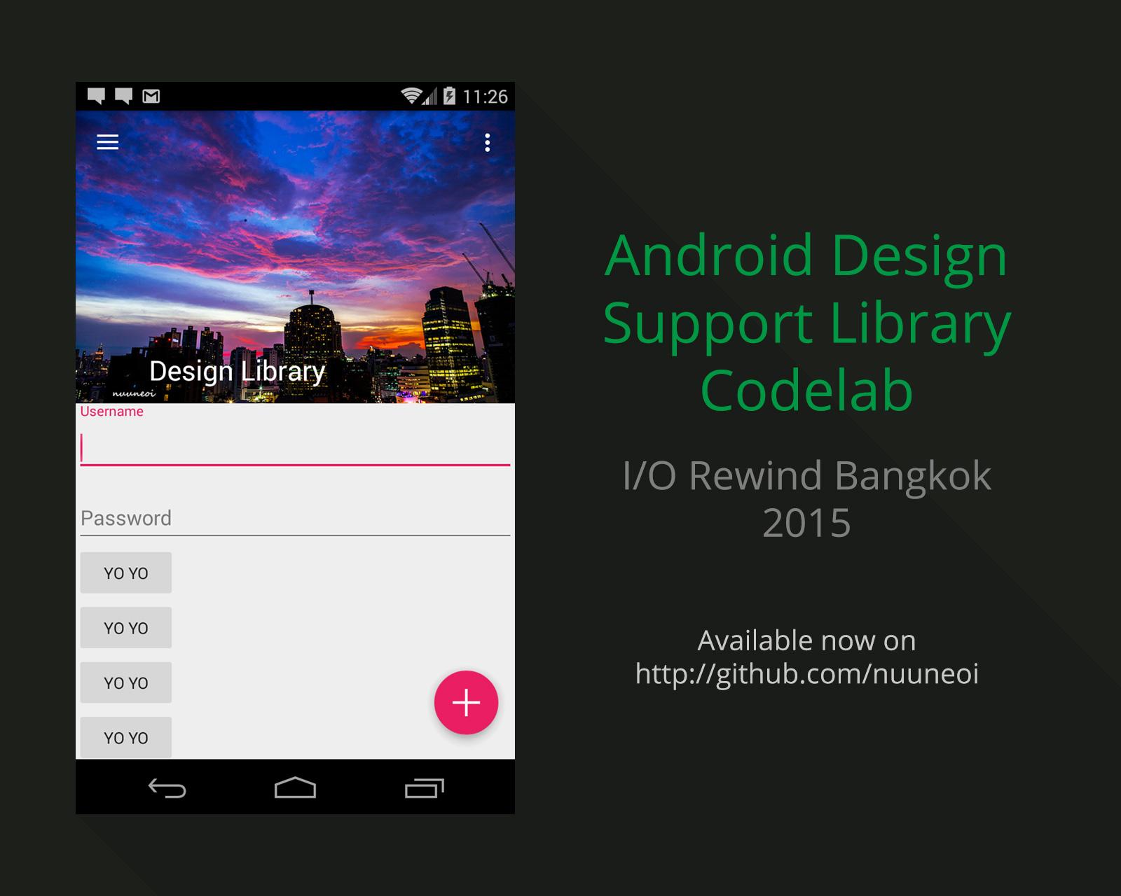 GitHub - nuuneoi/Lab-Android-DesignLibrary