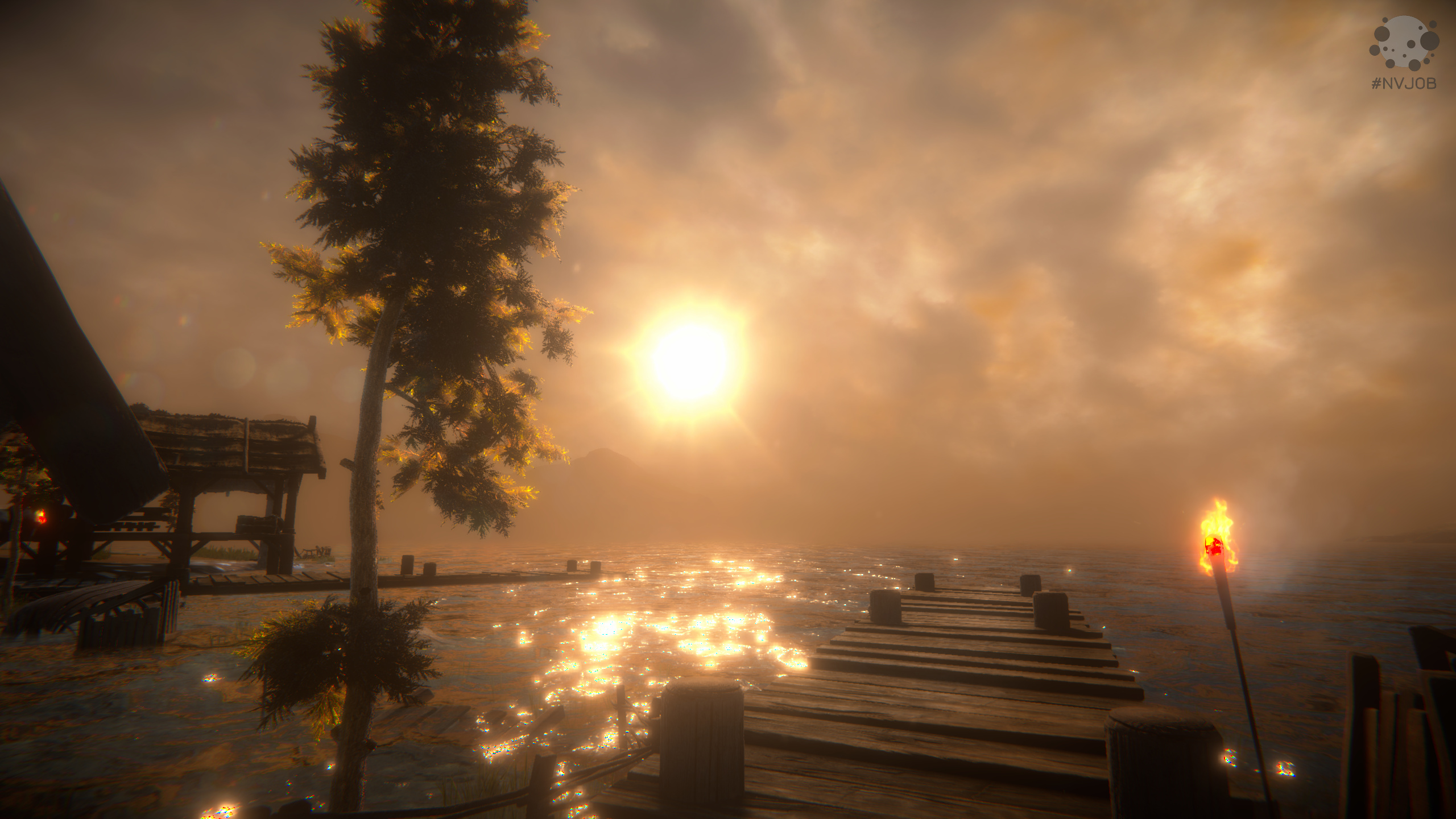 Unity Viking Village + #NVJOB Water Shader, Dynamic Sky, STC (Demo)