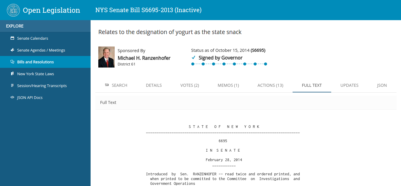 Bill page demo