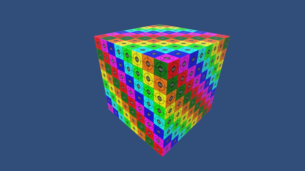 Procedural cube image