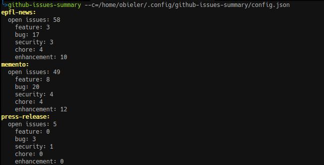 CLI usage example
