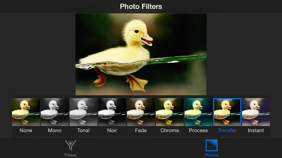 iOS Photo Filters