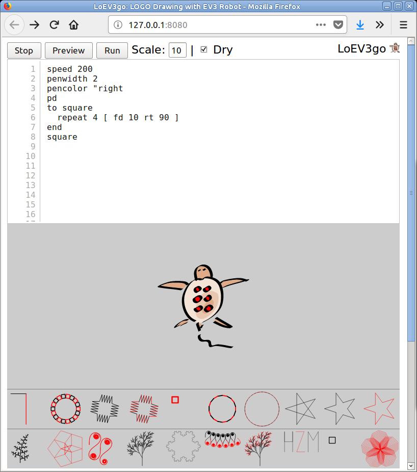 LoEV3go web frontend screenshot
