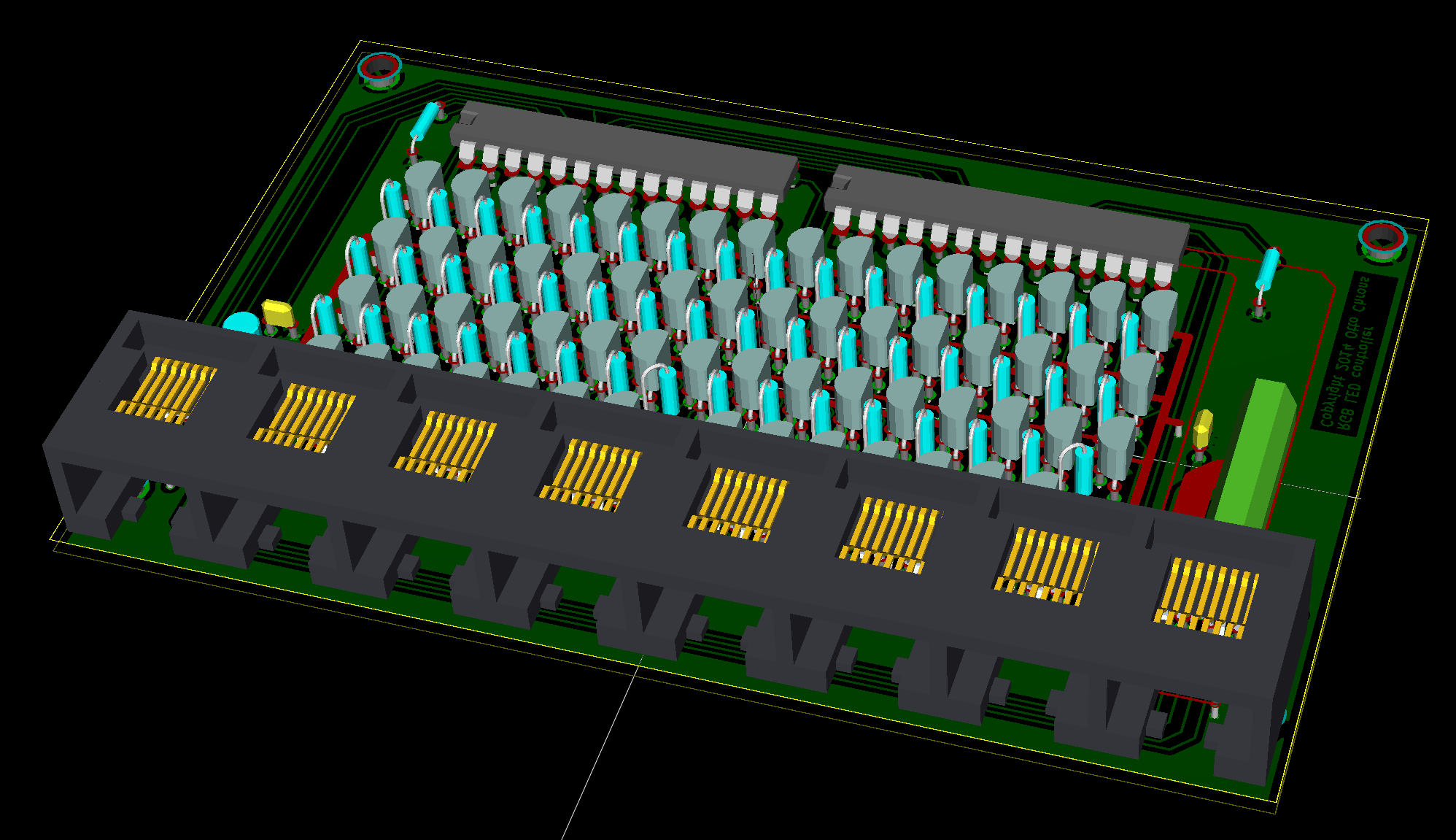 Design for a channel rgb led strip driver
