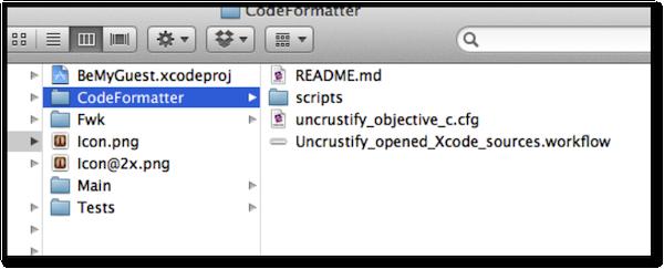 CodeFormatter directory location