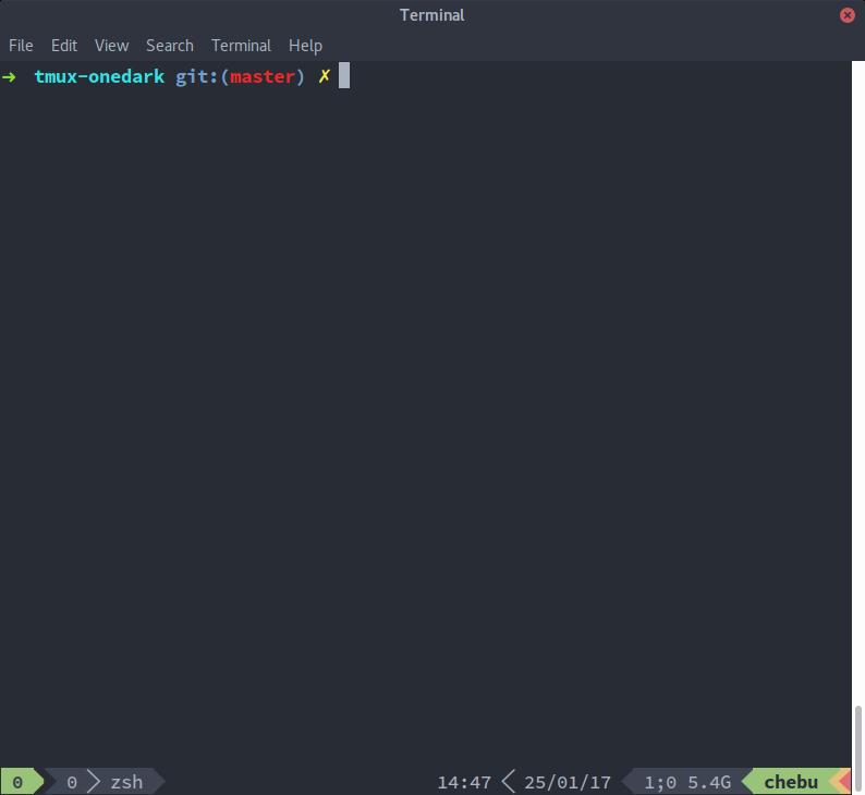 tmux-onedark-theme Preview