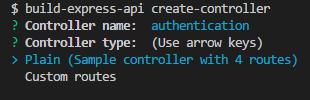 Creating a plain controller