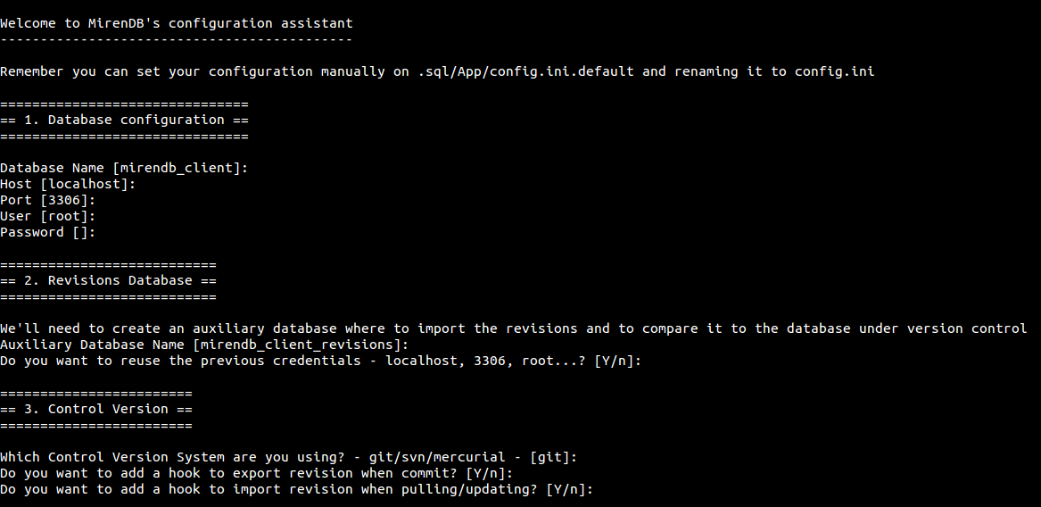 MirenDB Configurator