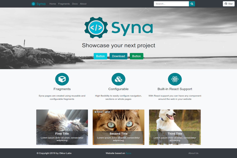 Syna Theme screenshot