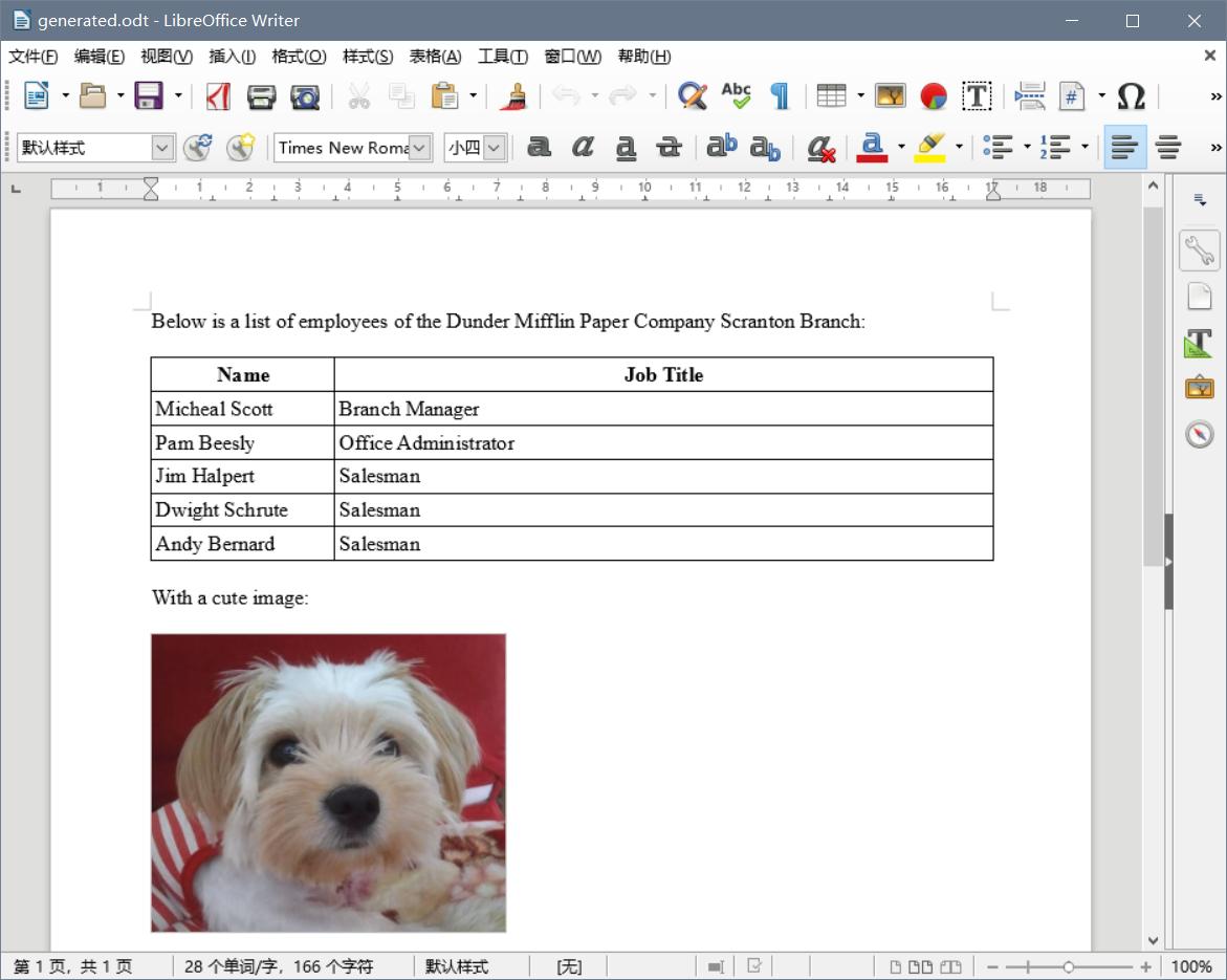 Generated Document