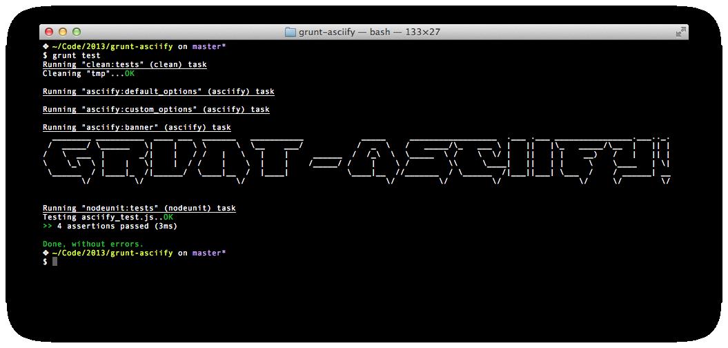 asciify options.log=true