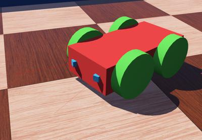 Webots documentation: Tutorial 6: 4-Wheels Robot