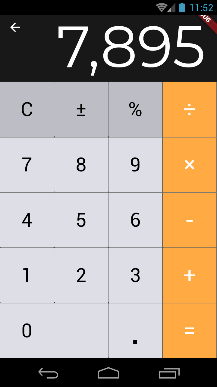 iOS 10 Style Calculator for Android