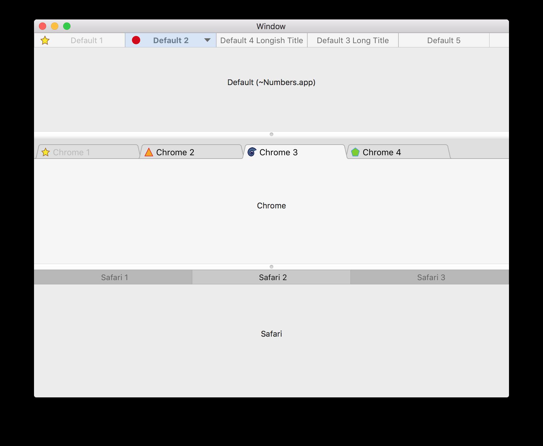 Demo Tabs Screenshot