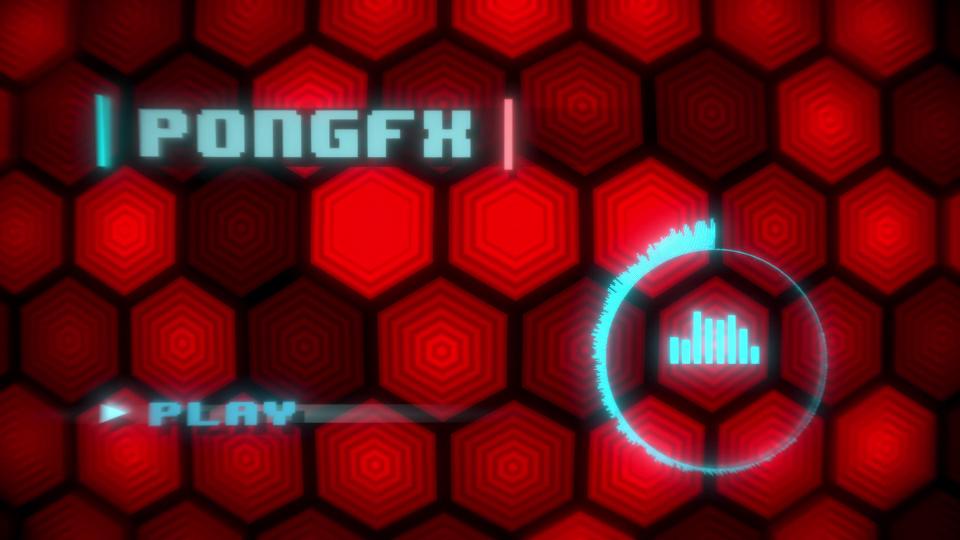PongFX Main Menu