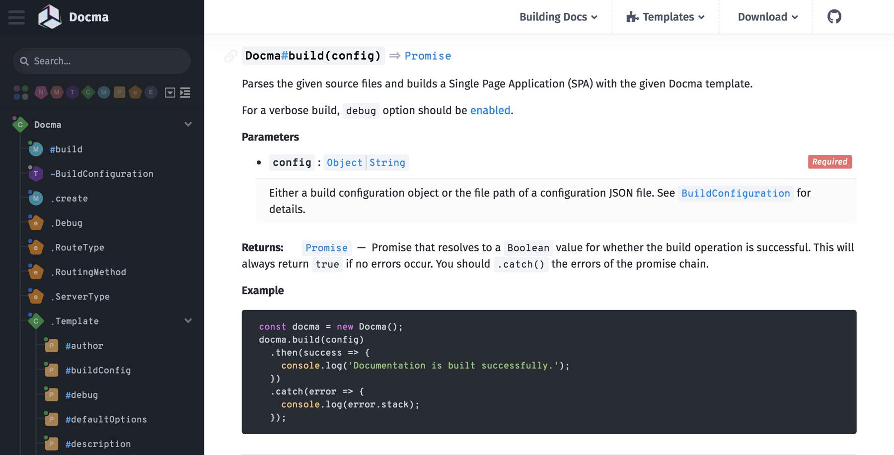 jsdoc templates - onury docma a powerful tool to easily generate beautiful