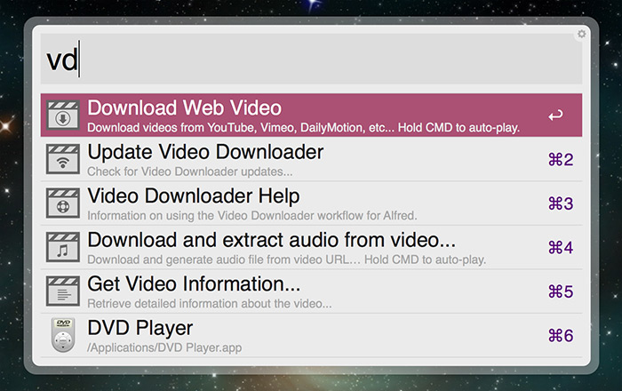 Video Downloader Workflow - Share your Workflows - Alfred App