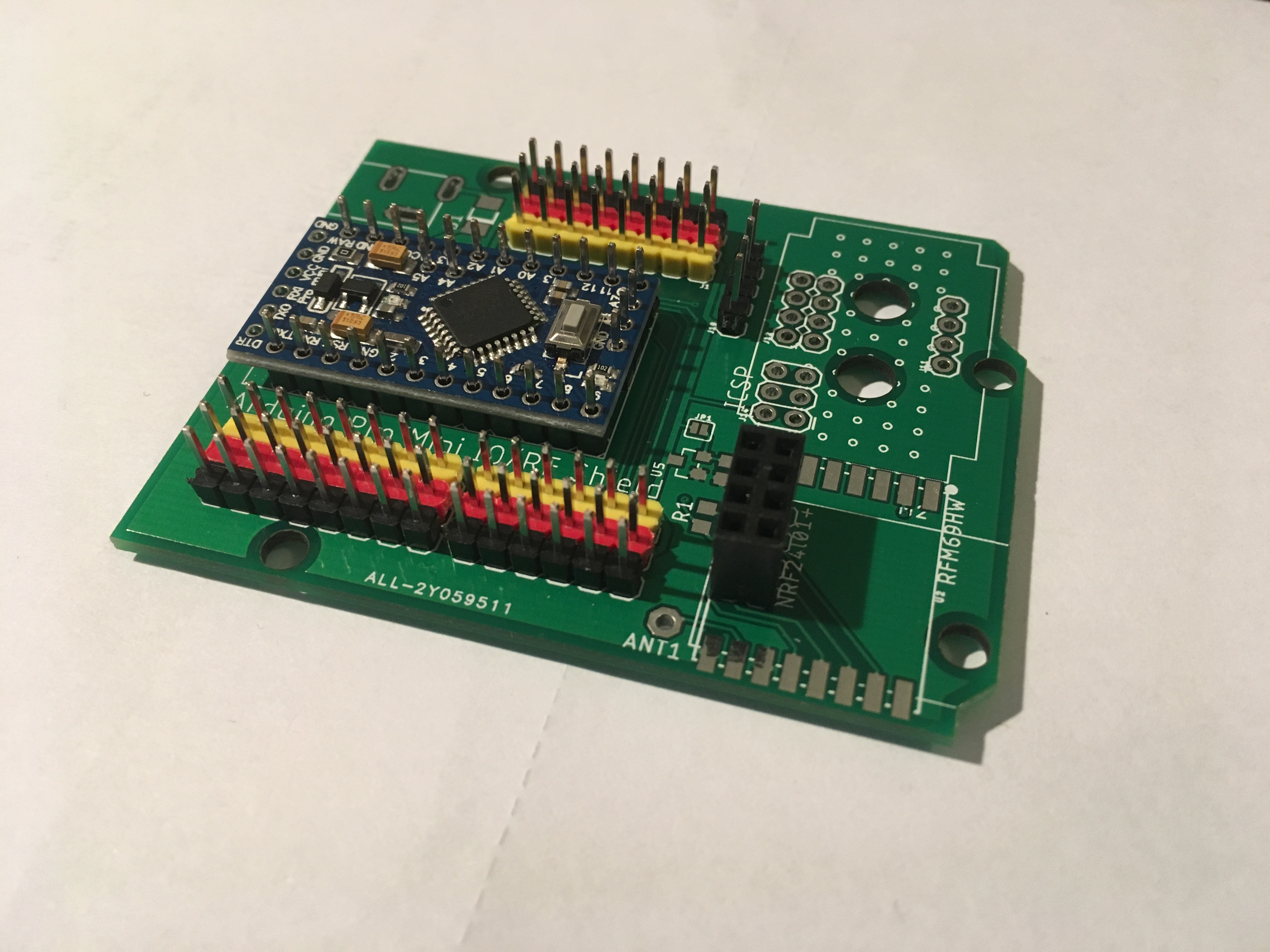 Pro Mini IO shield for quick prototyping