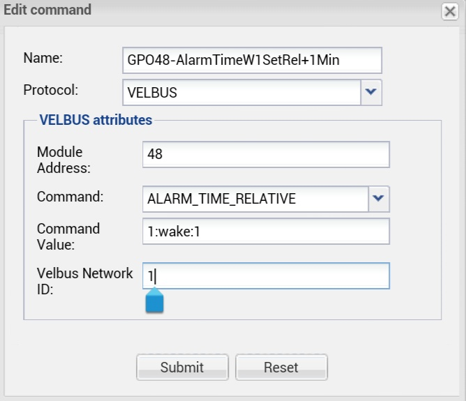 Velbus command #01