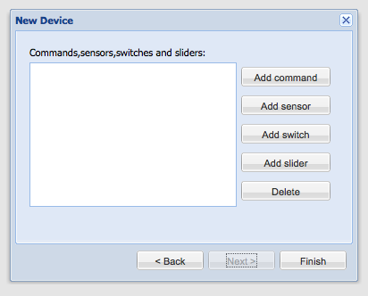 New Device Dialog - Building Modeler