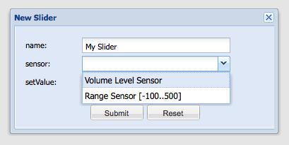 Create Slider - Designer New Slider - Building Modeler