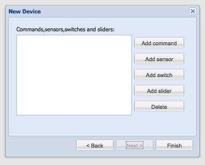 Create Slider - New Device Dialog - Building Modeler