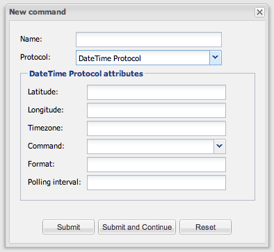 DateTime Protocol - DateTime_Command