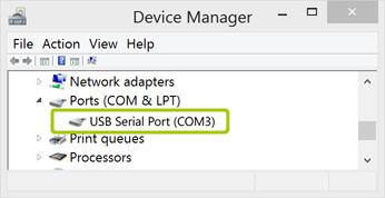 EnOcean - SerialPortConfigWindowsDeviceManager