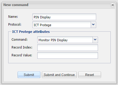ICT Protege - Command_PIN_Display