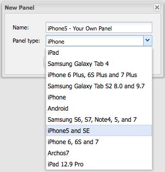 New Panel Name