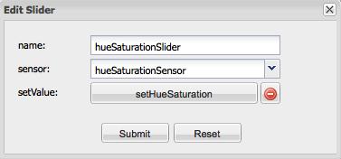 Philips Hue - hueSaturationSlider