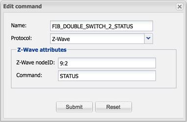 Create Z-Wave Sub-Device Command