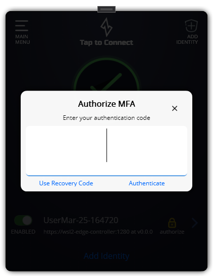 MFA Main Page Auth Needed