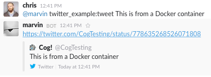 Using a Docker-packaged Command