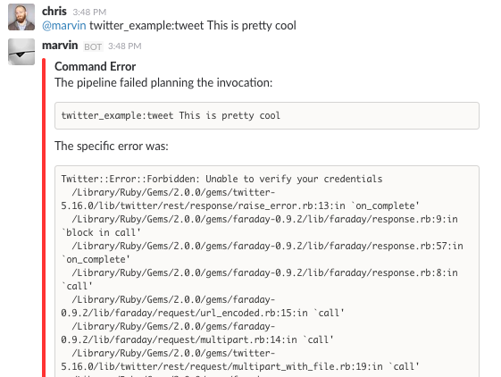 First Time Running the ``tweet`` Command from Cog