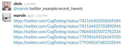 Running the ``recent_tweets`` Command