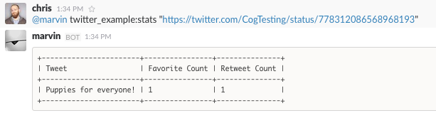 Running the ``stats`` Command for a Single Tweet