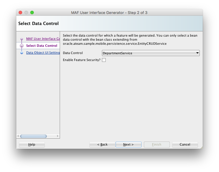 Using the MAF User Interface Generator · oracle/mobile