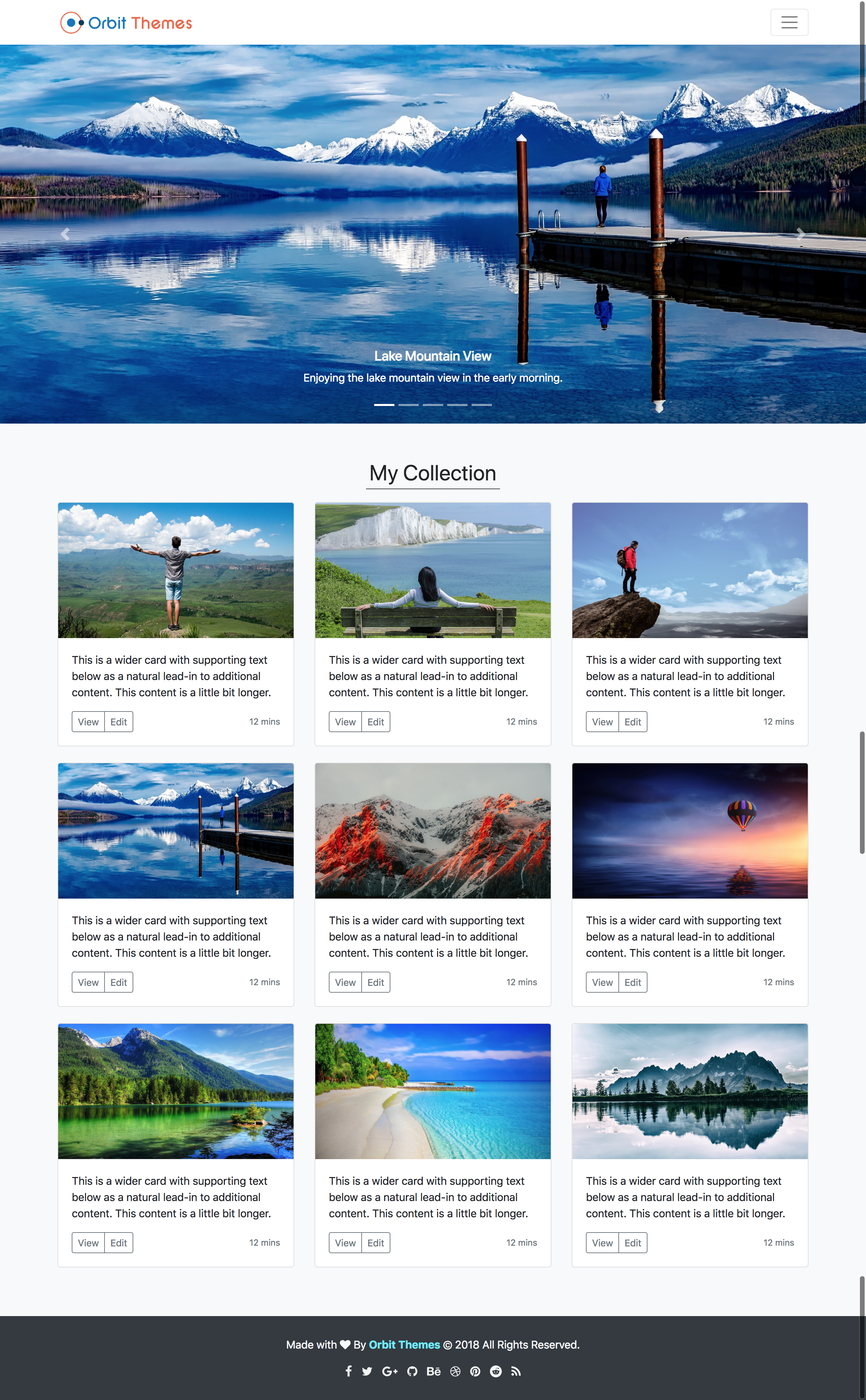Album Plus Photography Template Preview