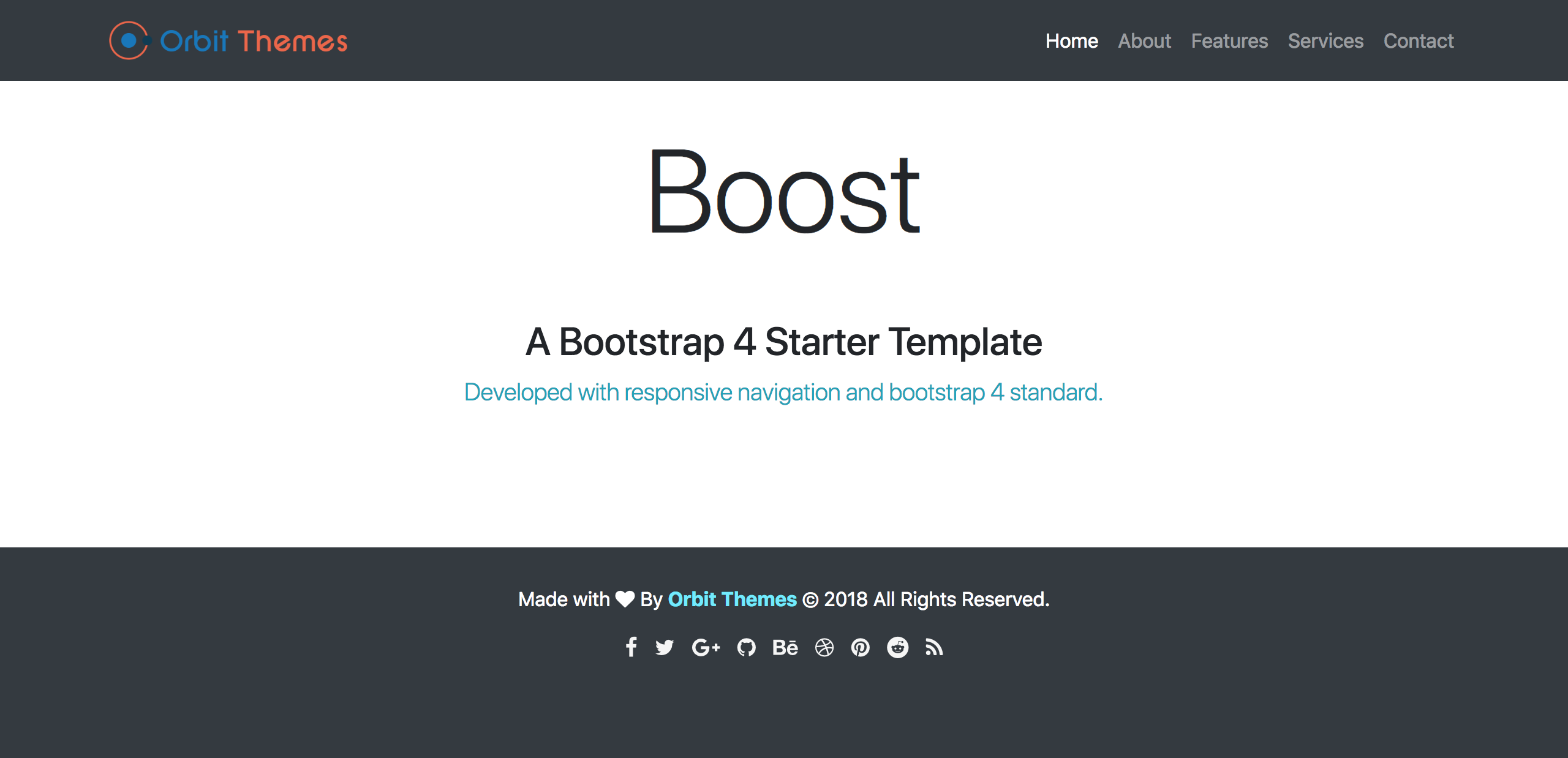 Boost Photography Template Preview