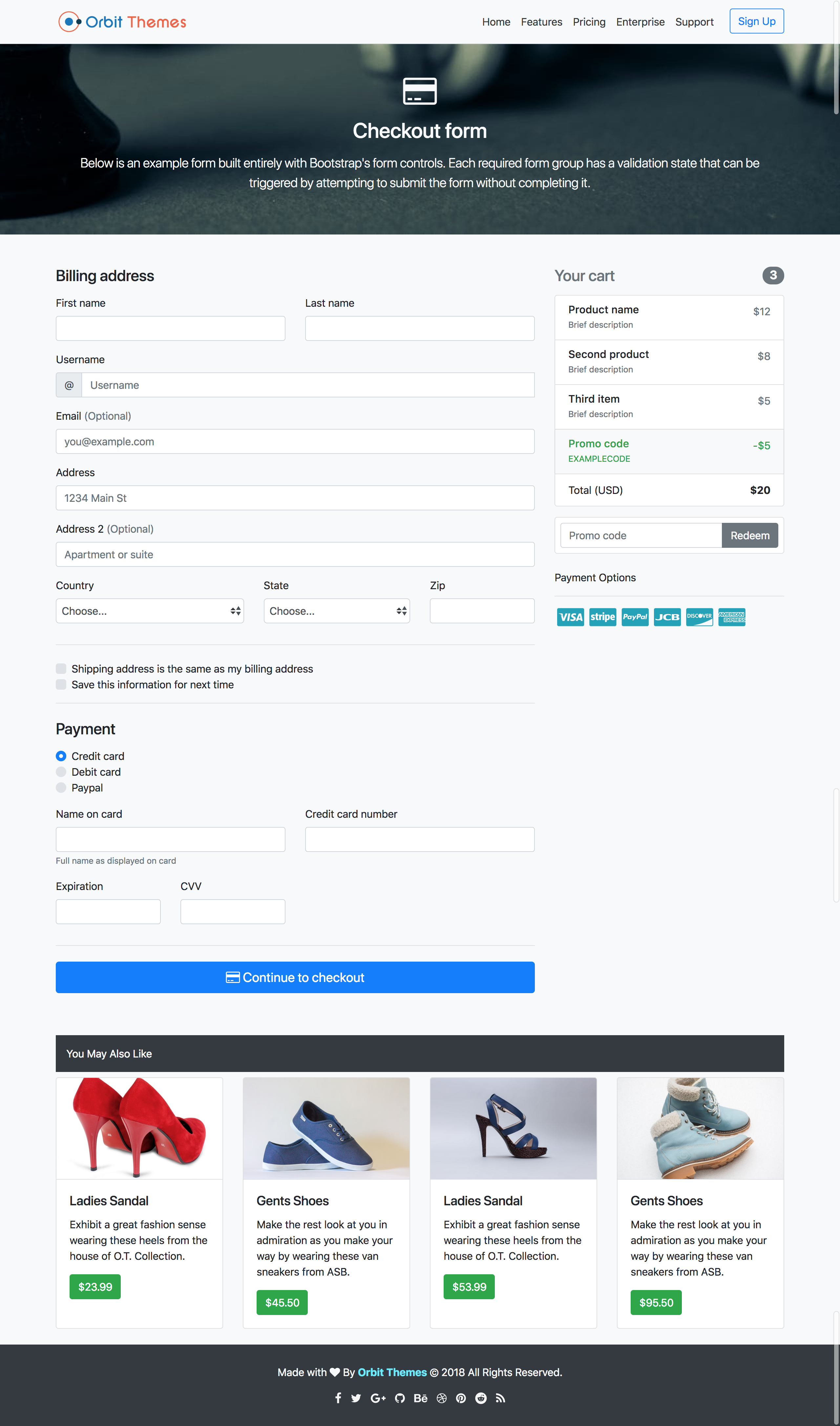 Checkout Plus Page Template Preview