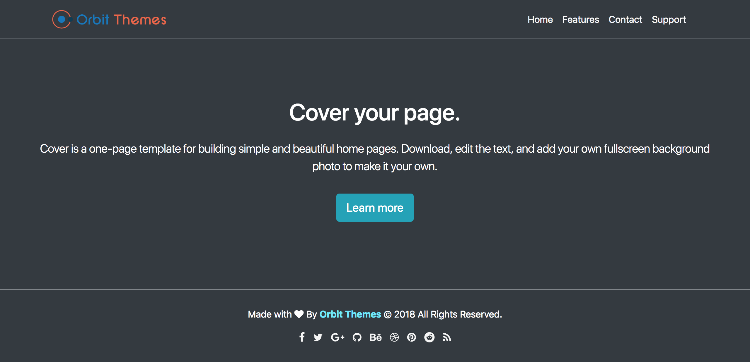 Cover Page Template Preview