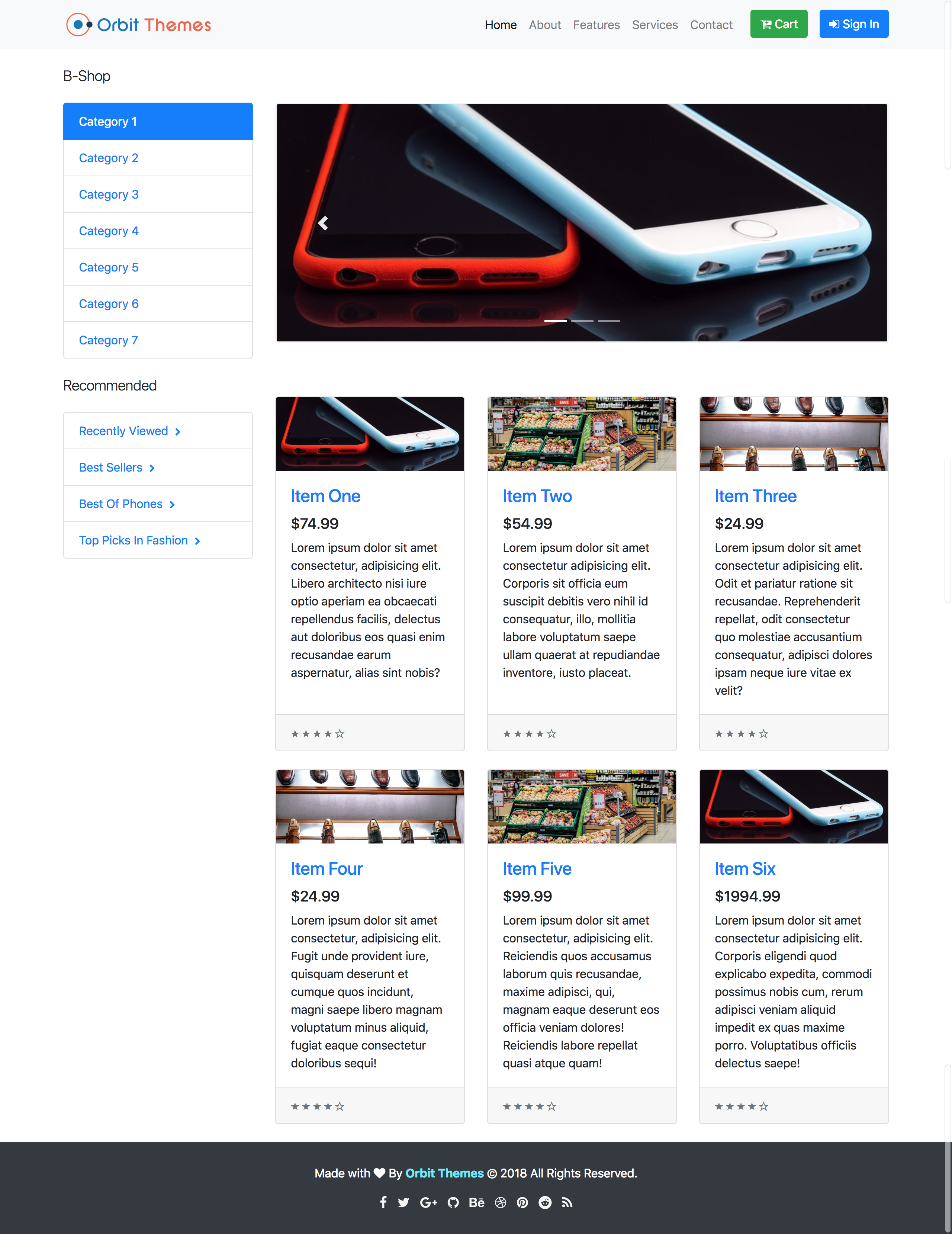 My Shop E-Commerce Template Preview