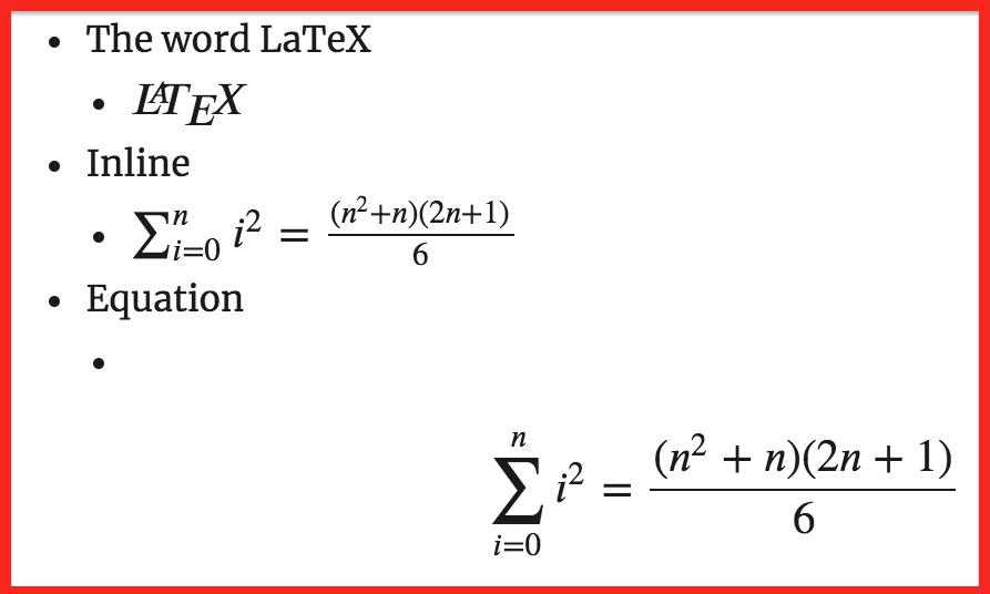 MathJax Example