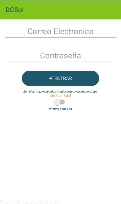Login de app