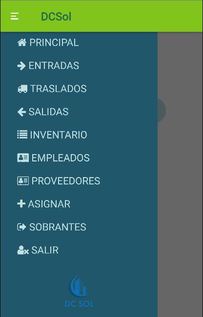 Menú de app